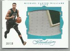 Michael Carter-Williams JUMBO 3 COLOR PATCH 15-16 Flawless SAPPHIRE #10/10 BUCKS