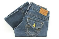 True Religion Women's Low Rise Twisted Leg Flare Jeans Size 26 x 32
