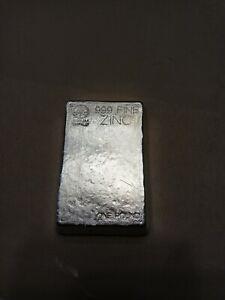 1 Pound Zinc Bullion Bar Handpoured