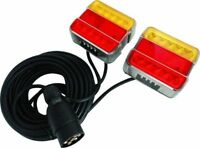 12V 4.5m Cable Magnetic LED Trailer Towing Lights Rear Tail Board Lamps Stop Car