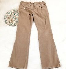 Old Navy Womens Maternity Corduroy Pants Size 8 Tan Low Rise Bootcut Stretch 581