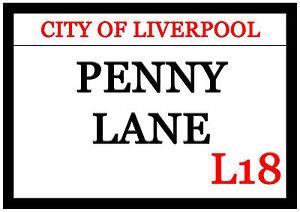 Huge Penny Lane Fridge Magnet 30cm x 21cm City Of Liverpool L18