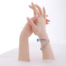 Realistic Female Soft Silicon Flexible Mannequin Hand For Ring Bracelet Display