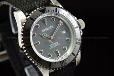 Invicta Men's 44mm Pro Diver Automatic Gun Metal Grey Polyster Strap SS Watch