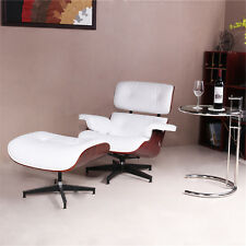 Eames Lounge Chair and Ottoman- Tall White Leather Chair-US STOCK!!!