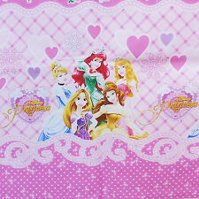 Disney Princess Fabric Panel Cotton Oxford Girl Sewing Quilt Crafts Pink Flower