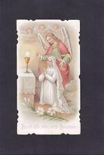 SANTINO 84 - COMUNIONE - HOLY CARD IMMAGINETTA RELIGIONE - CANTÙ 1902