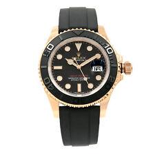Rolex Yacht-Master Dial Negro Mate Everose Oro De Goma Reloj Automático 116655