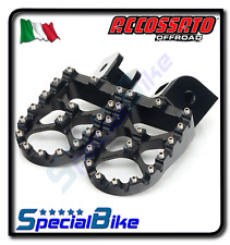 KTM 250 EXC F 2006 > 2015 PEDANE ACCOSSATO NERO ERGAL MAGGIORATE OFFROAD COPPIA