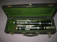 """Nice, very old wooden Clarinet in C-  open holes, 2 rings """"W.Mach Chutec"""""""