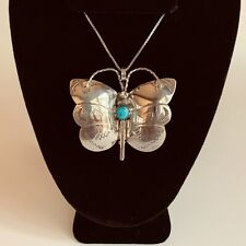 Sterling Butterfly Necklace  Jeff Largo Native American Navajo