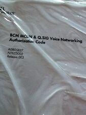 Nortel Avaya Bcm400 Mcdn Voice Networking Auth Keycode License Ntkc0002