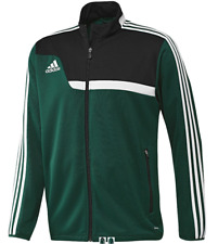 Boy's Adidas Grade School Team Tiro 13 Jacket Color: Green Size: X-Small