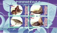 Pinniped Animals on Stamps - 4 Stamp  Sheet  - SV0715
