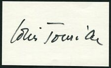 LOUIS JOURDAN SIGNED 3X5 INDEX CARD OCTOPUSSY THE BEST OF EVERYTHING GIGI VIP'S