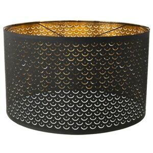 """Ikea NYMO Perforated Large 23"""" Black&Brass Lamp Shade new-open box (603.772.07)"""
