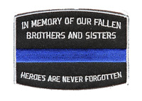 IN MEMORY OF OUR FALLEN BLUE LINE POLICE PATCH POLICE COP LAW ENFORCEMENT KIA