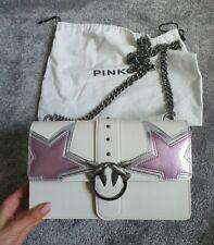 Pinko Love Bag Silver Lilac And Metallic stars