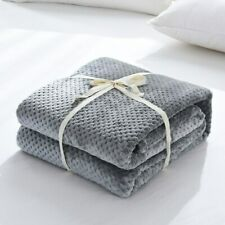 Soft Plush Flannel Throw Blanket Cover For Sofa Couch Bed Lightweight Microfiber