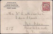 GERMAN SAMOA 1906 postcard Apia to New Zealand..............................J868