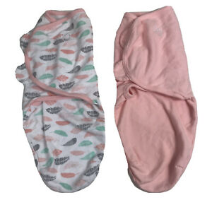 SwaddleMe Girl's Baby Swaddle 2-Pack Size SM/MED 7-14 LBS