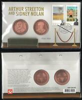 Ltd Ed. 1733/3500 ARTHUR STREETON and SIDNEY NOLAN PNC with 2 MEDALLIONS - MINT