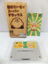 """ HOSHI NO KIRBY SUPER DELUXE "" SFC SNES KIRBY SUPER STAR SUPER FAMICOM BOXED"