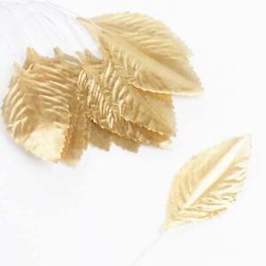 Artificial Metallic Gold Rose Leaves