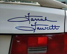 Farrah Fawcett signature   Cut Vinyl Sticker/Decal 20 colors
