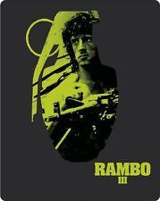 RAMBO III (Sylvester Stallone) Blu-ray Disc + DVD, Steelbook UK NEU