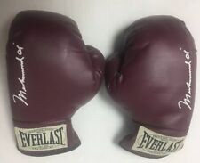 Everlast Muhammad Ali Gloves Collection Youth Boxing Wine Red Color w/ Case