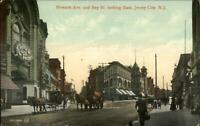 Jersey City NJ Newark Ave c1910 Postcard