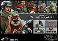 Hot Toys Return of the Jedi PRINCESS LEIA & WICKET 1/6th Figure Set MMS551