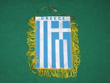 "GREECE FLAG MINI BANNER 4""x6"" GREEK CAR WINDOW MIRROR"