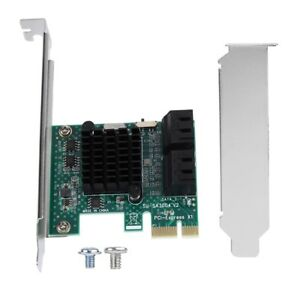 SATA 3.0 Expansion Card 4-Port PCIE to SATA 3.0 Expansion Controller Adapter 6G