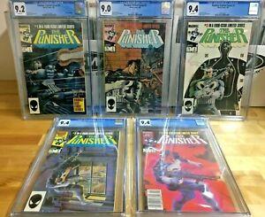 Punisher Limited Series 1-5 CGC 9.0 - 9.4