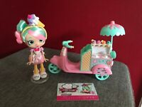 Shopkins Peppa-Mint Gelato Scooter Shoppie Doll Set