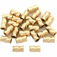 25 Gold Filled Crimp Tube Beads Jewelry Beading 3mm