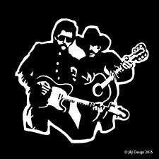 Brooks and Dunn Country Music Rock n Roll Music Car Bumper Guitar Decal Sticker