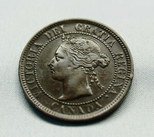1884   -  Victoria Large One Cent Penny Coin - Nice Higher Grade Coin