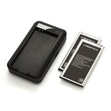 2x High Capacity Replacement Batteries w/ Wall Charger for Galaxy S5 (CyberTech)