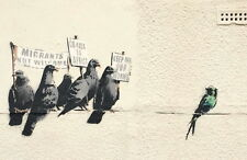 A4 BANKSY ART PHOTO PRINTS FOR 99P (KEEP OFF OUR WORMS)