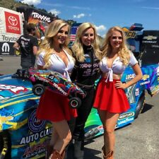 NHRA COURTNEY FORCE ADVANCE AUTO PARTS AND TRAXXX GIRLS  8X10 PHOTO W/BORDERS