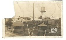 1913 Highgate Ont. British-Canadian Canners Factory Real Photo Postcard - Faulty