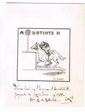 BARON ROBERT DE ROTSCHILD / MENU DE 1925 EN L'HONNEUR DE SA JUMENT AQUATINTE II