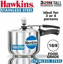 Hawkins B33 3 Litre Pressure Cooker Stainless Steel, Small, Silver