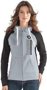 G-III 4her Las Vegas Raiders Women's Linebacker Full Zip Hoody Sweatshirt