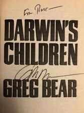 SIGNED by GREG BEAR - Bear DARWINS CHILDREN - 1st ed. (2004) RARE AWARD NOMINEE