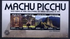 St. Vincent Mustique 2011 Machu Picchu Archäologie Geschichte Ruinen Ruins MNH