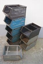 Alte Lagerkiste Metall Industriedesign Regal Loft Design Metallkiste Stapelbox
